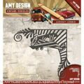 Нож  Find It Trading Amy Design Vintage Vehicles Die Aircraft Corner САМОЛЕТ УГОЛ
