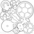 "Трафарет (маска)  Crafter's Workshop Template 6""X6"" Gears ШЕСТЕРЕНКИ"