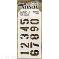 Трафарет Tim Holtz Layering Stencil 2014 NUMBERED THS020 (ЦИФРЫ)