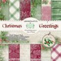 1/3 Набор бумаги (12 листов) Pad of scrapbooking papers - Christmas Greetings 6x6